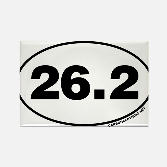 26.2 Miles Rectangle Magnet
