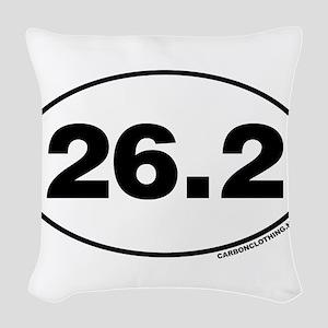 26.2 Miles Woven Throw Pillow
