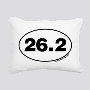 26.2 Miles Rectangular Canvas Pillow