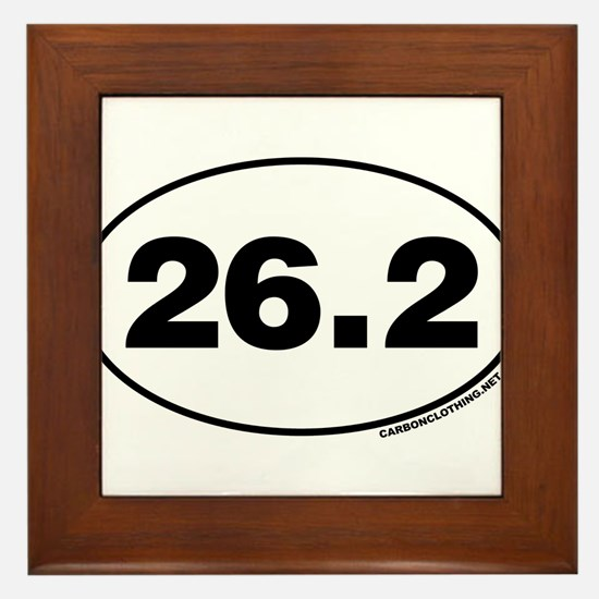 26.2 Miles Framed Tile