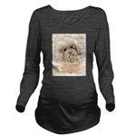 Poodle Long Sleeve Maternity T-Shirt