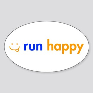 run-happy-smile-orange-blue Sticker