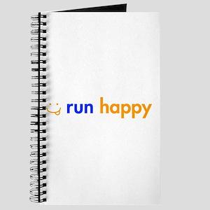 run-happy-smile-orange-blue Journal