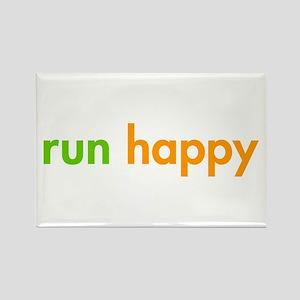 run-happy-fut-green-orange Rectangle Magnet