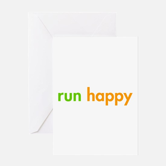 run-happy-fut-green-orange Greeting Card