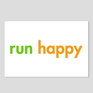 run-happy-fut-green-orange Postcards (Package of 8