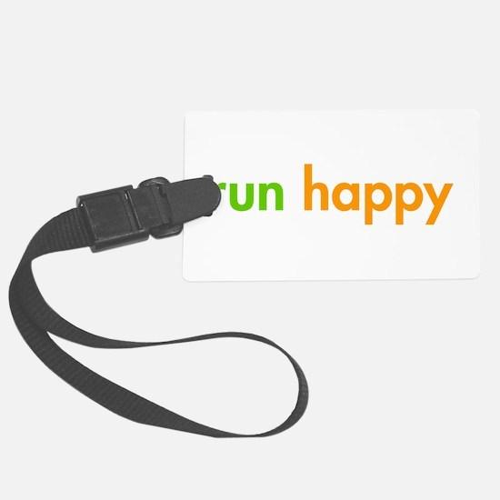 run-happy-fut-green-orange Luggage Tag