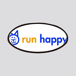 run-happy-cat-blue Patches