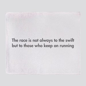 race-is-not-always-to-the-swift-fut-gray Throw Bla