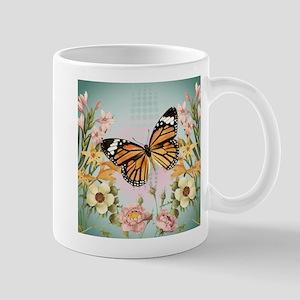 Modern Vintage Monarch butterfly Mug