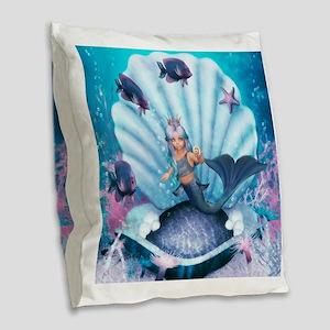 Best Seller Merrow Mermaid Burlap Throw Pillow
