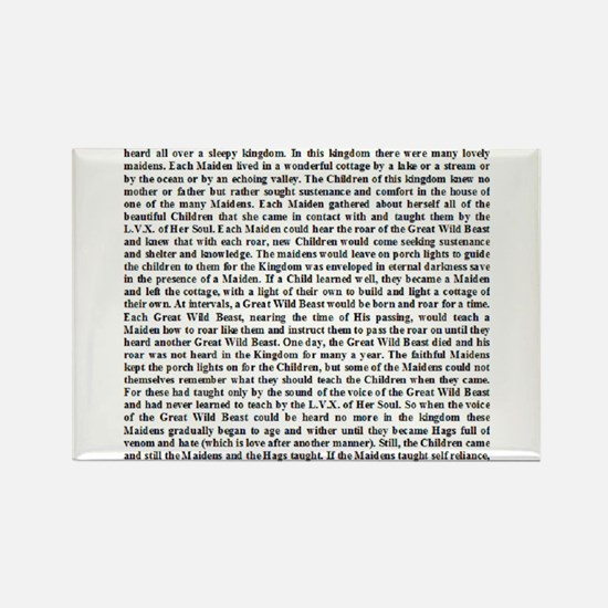 Thelemic Fable Rectangle Magnet