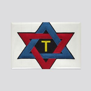 Hexagram Tau Patch Rectangle Magnet