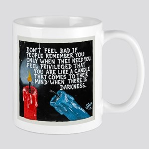 """"""" You are a CANDLE """" / Sculpted Art Mug"""