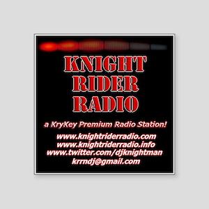 "KNIGHT RIDER RADIO STATION LOGO Square Sticker 3"""
