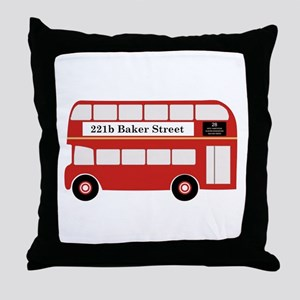 Baker Street Bus Throw Pillow