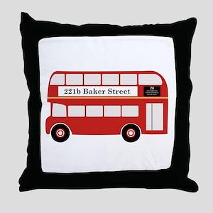 Baker Street Bus Throw Pillow