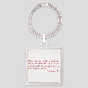 Philippians-4-6-opt-burg Keychains