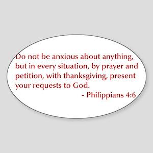 Philippians-4-6-opt-burg Sticker