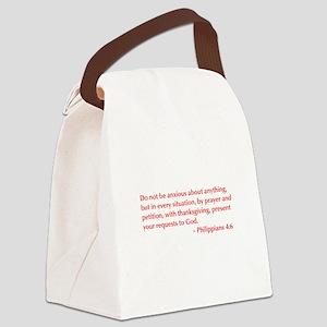 Philippians-4-6-opt-burg Canvas Lunch Bag