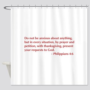 Philippians-4-6-opt-burg Shower Curtain