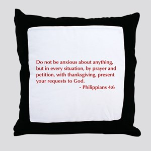 Philippians-4-6-opt-burg Throw Pillow