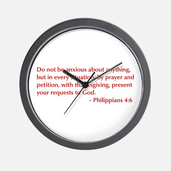 Philippians-4-6-opt-burg Wall Clock