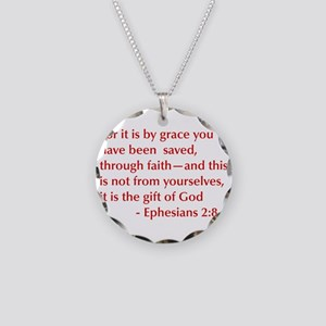 Ephesians-2-8-opt-burg Necklace