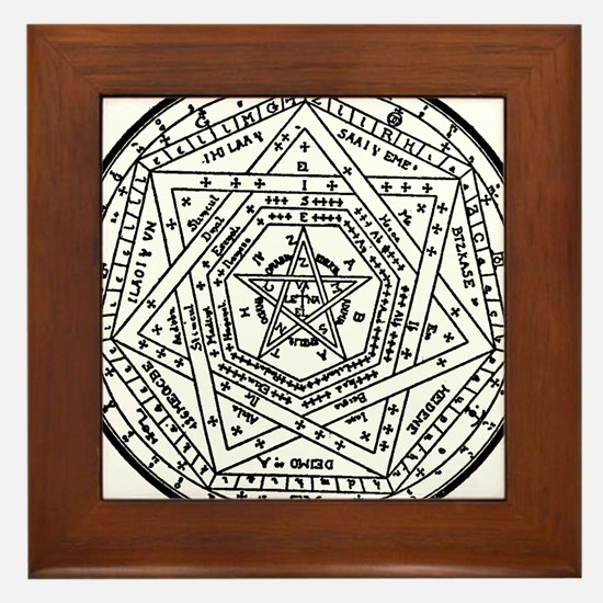Sigillum Dei Aemeth Framed Tile
