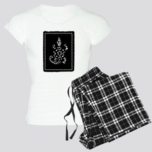 African Tribal Turtle in Black and White Women's L