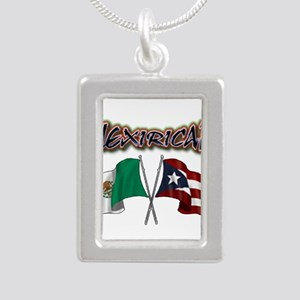 MexiRican Flags centered Necklaces