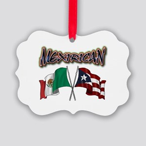 MexiRican Flags centered Ornament
