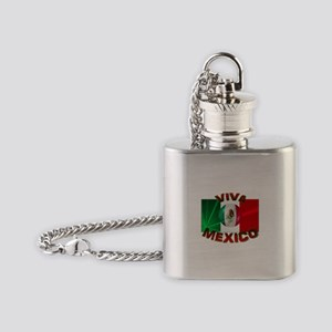 Mexico-flag3 Flask Necklace