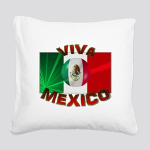 Mexico-flag3 Square Canvas Pillow
