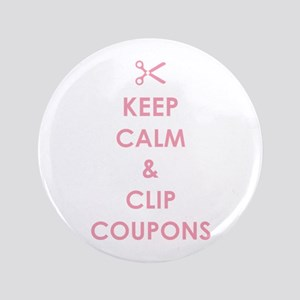 "CLIP COUPONS 3.5"" Button"