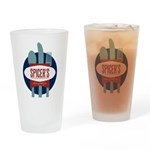 Spicer's Food Truck Logo Drinking Glass