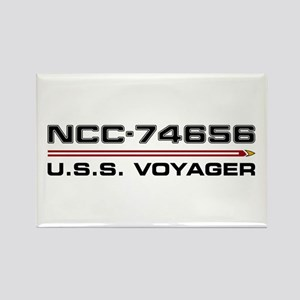 USS Voyager Dark Rectangle Magnet