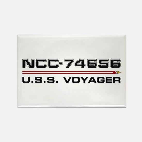 USS Voyager Dark Rectangle Magnet