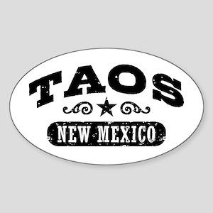 Taos New Mexico Sticker (Oval)
