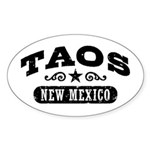 Taos New Mexico Sticker (Oval)