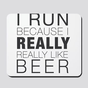 Run for Beer. Mousepad