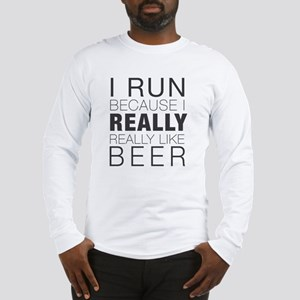 Run for Beer. Long Sleeve T-Shirt