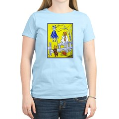 Meeting Scarecrow Women's Pink T-Shirt