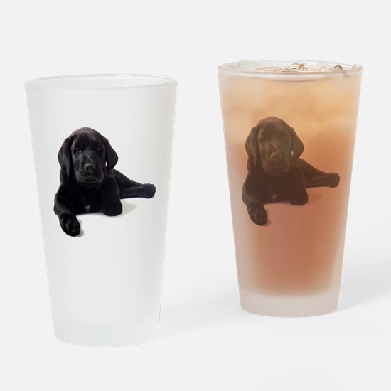Labrador Retriever Drinking Glass