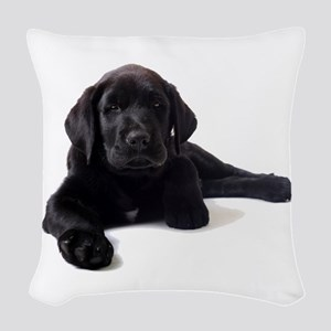 Labrador Retriever Woven Throw Pillow