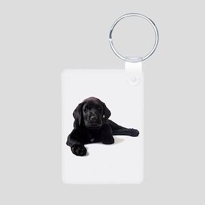Labrador Retriever Aluminum Photo Keychain