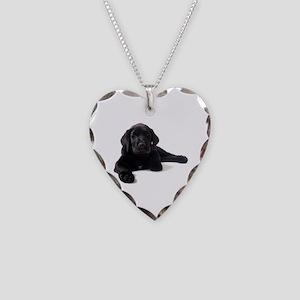 Labrador Retriever Necklace Heart Charm