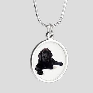 Labrador Retriever Silver Round Necklace