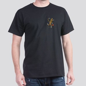 Basketball Sock Monkey Dark T-Shirt
