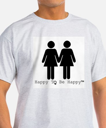 Happy to Be Happy Female T-Shirt